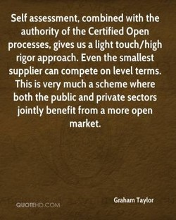 Self assessment, combined with the 