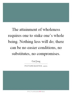The attainment of wholeness 