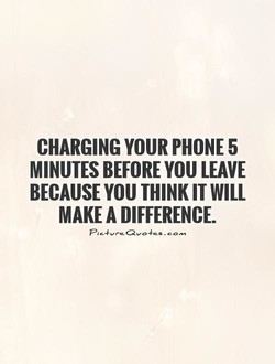 CHARGING YOUR PHONE 5 