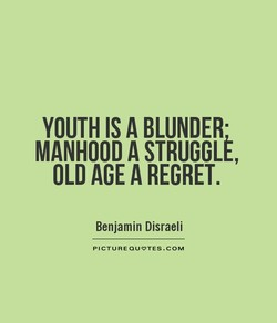 YOUTH IS A BLUNDER, 