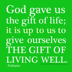 God gave us 