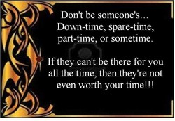 Don't be someone's. .. 