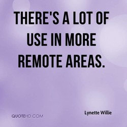 THERE'S A LOT OF 