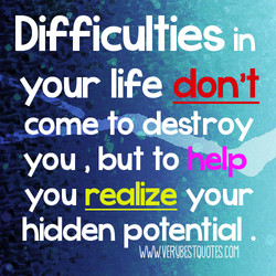 Difficulties in 