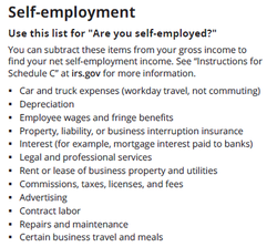 Self-employment 