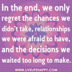 In the end, we only 