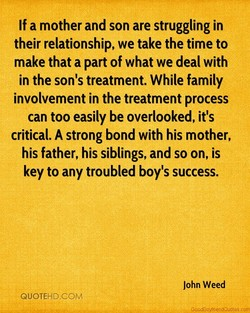 If a mother and son are struggling in 