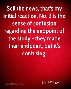 Sell the news, that's my 