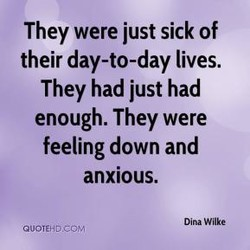 They were just sick of 