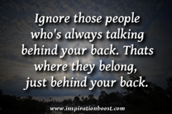 Ignore those people 
