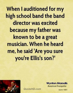 When I auditioned for my 