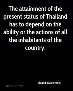 The attainment of the 