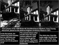 Thrcc photos ortho 1858 Roban M. Bashford House Madison, Danc Counw, 