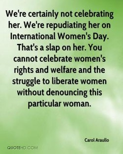 We're certainly not celebrating 