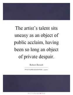 The artist's talent sits 