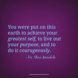 You were put on this 