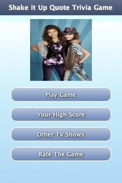Shake it Up Quote Trivia Game 