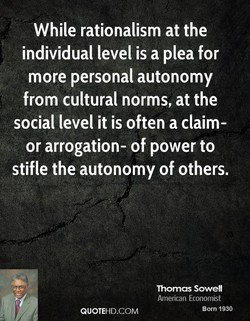While rationalism at the 