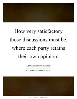 How very satisfactory 
