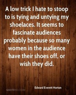 A low trick I hate to stoop 