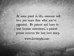 At some point in life, someone will 