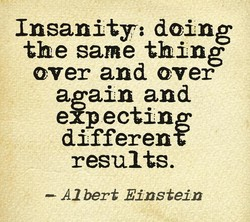 Insanity: doing 