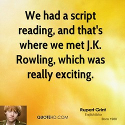 We had a script 