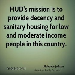 HUD's mission is to 