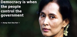 Democracy is when 