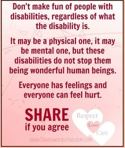 Don't make fun of people with 