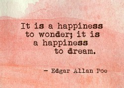 It is a happiness 