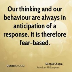 Our thinking and our 