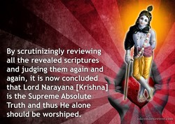 By scrutinizingly reviewing 