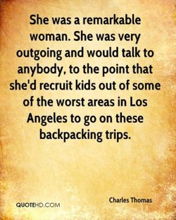 She was a remarkable 