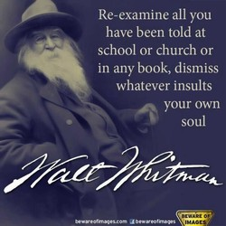 Re-examine all you 