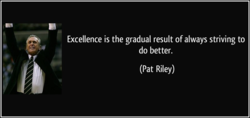 Excellence is the gradual result of always striving to 