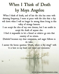 When 1 Think of Death 