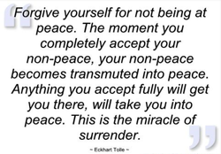 Forgive yourself for not being at 