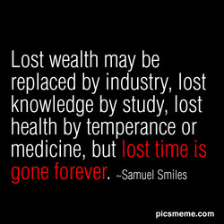 Lost wealth may be 