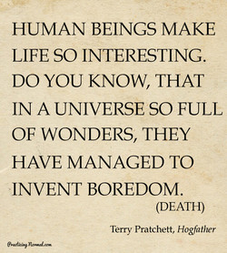 HUMAN BEINGS MAKE 