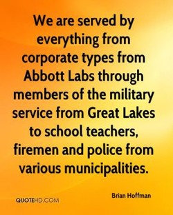 We are served by 