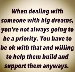 When dealing with 