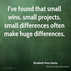 I've found that small 
