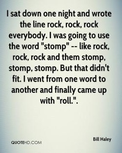 I sat down one night and wrote 