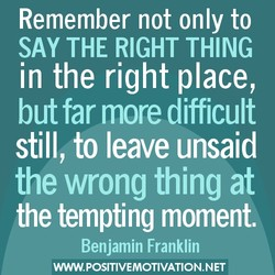 Remember not only to 