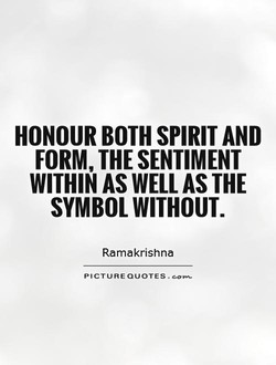 HONOUR BOTH SPIRIT AND 