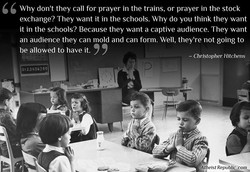 Why don't they call for prayer in the trains, or prayer in the stock 