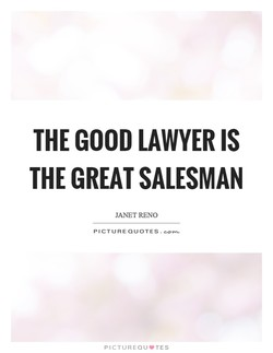 THE GOOD LAWYER IS 