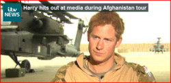 Harry hits out at media during Afghanistan tour 