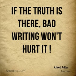 IF THE TRUTH IS 